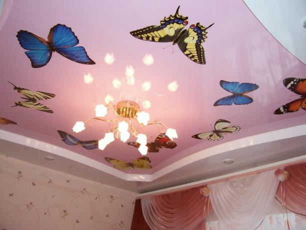 Монтаж натяжных потолков в детской комнате